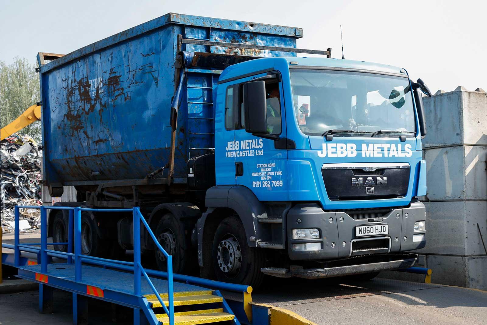 Scrap metal transport